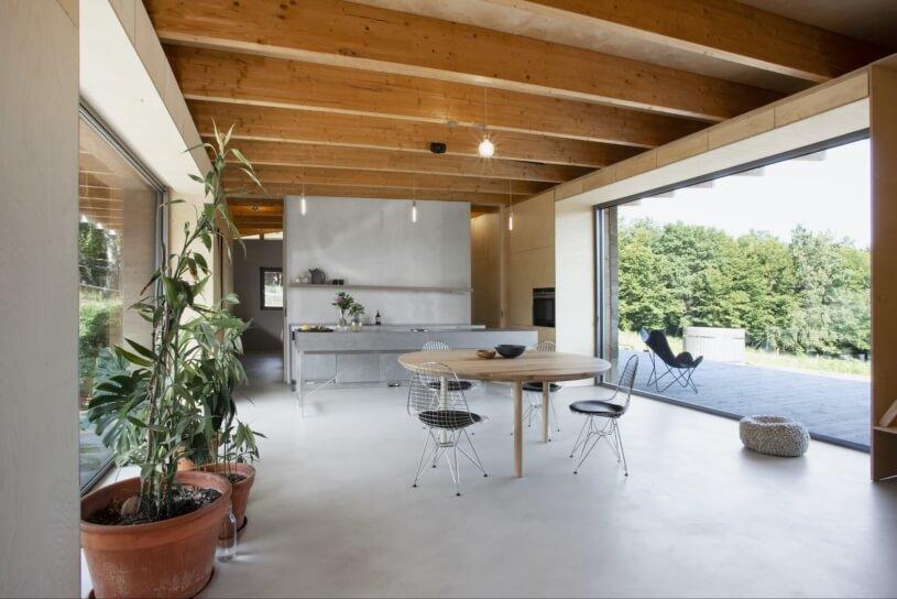 konopný beton a dom